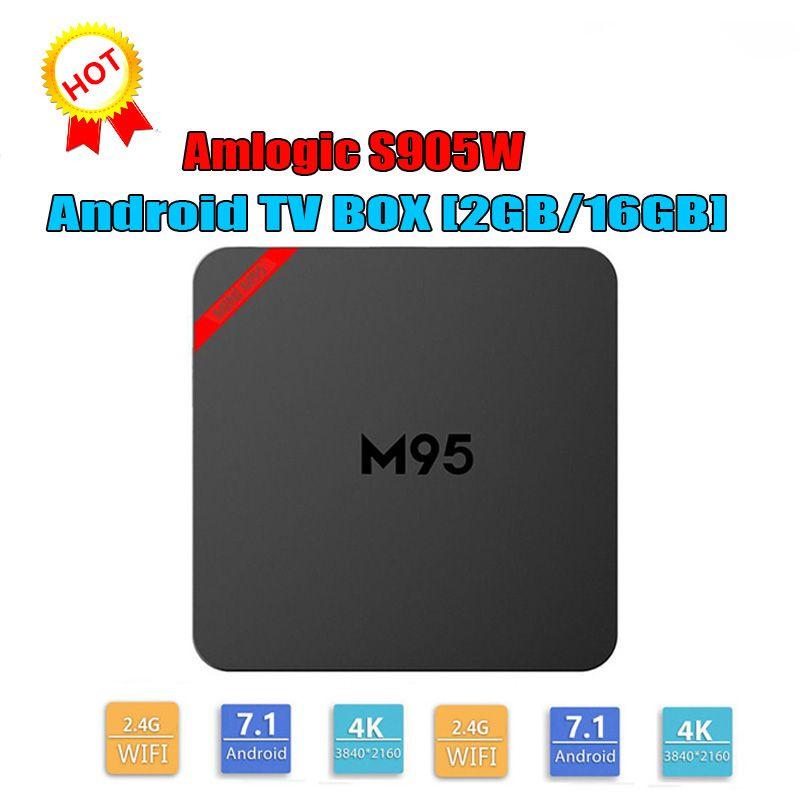 Android 7 1 TV Box M95 MINI Amlogic S905W 64bit Quad Core 1GB 8GB 2G 16GB  4K H 265 1080P Video Streaming Android TV Boxes Set Top Box