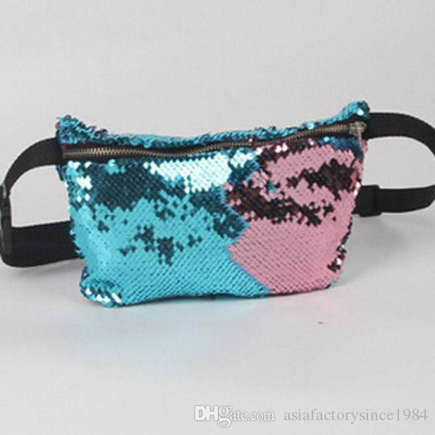 Fashion Reversible Sequin Glitter Waist Fanny Pack Belt Bum Bag Pouch Hip  Purse Waist Packs Messenger Bags For Women Drawstring Bags From ... b3b403151fc7