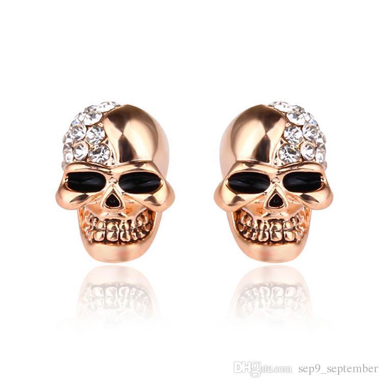 b704f9a8b Hip Hop Skull Stud Earrings For Men Halloween Gift Fashion Vintage Punk  Mens Earrings Hip Hop Jewelry Mens Earrings Stainless Steel Earrings Online  with ...