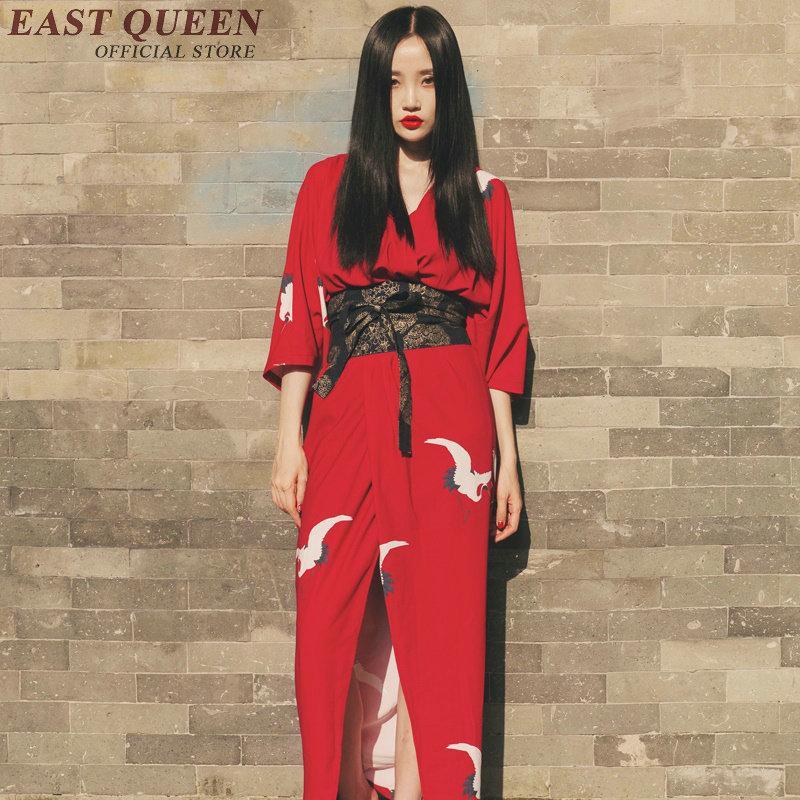 7c0784c8c Compre Kimono Japonés Tradicional Kimonos Mujer 2018 Traje De Geisha Japonés  Kimono Yukata Mujeres Haori Obi Yukata Hembra KK407 W A  113.38 Del Dalivid  ...