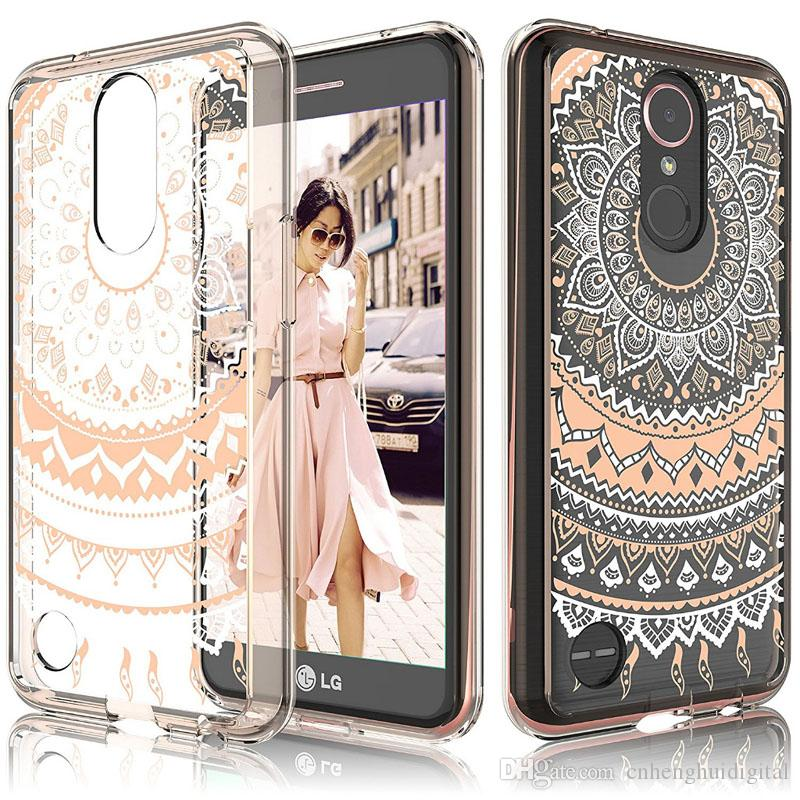 Acrylic Transparent Coloured Case For LG K20 plus Stylo 3 ZTE Avid Trio Warp 8 N9517 One plus 5t Back cover