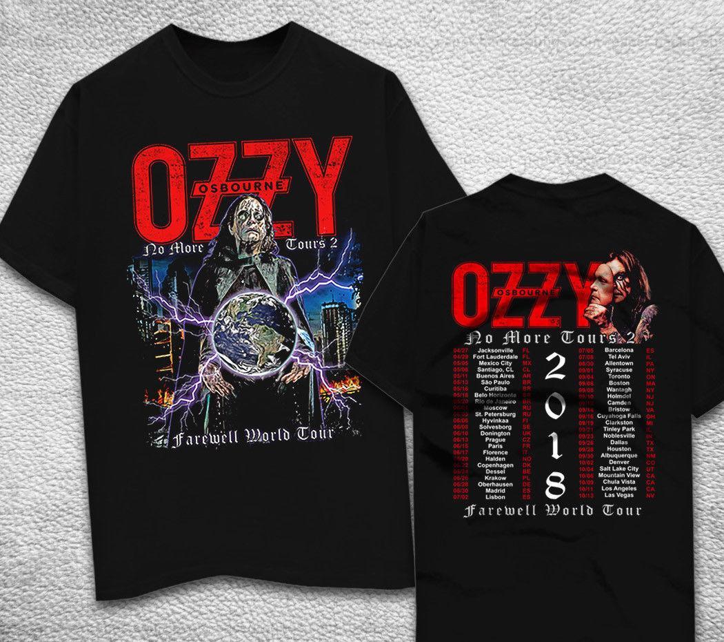 dd46ec44116 Ozzy Osbourne Shirt Black Sabbath 2018 No More Tours Men s Black T Shirt S  - 2XL O-Neck Sunlight Men T-Shirt T Shirt Casual Men Clothing