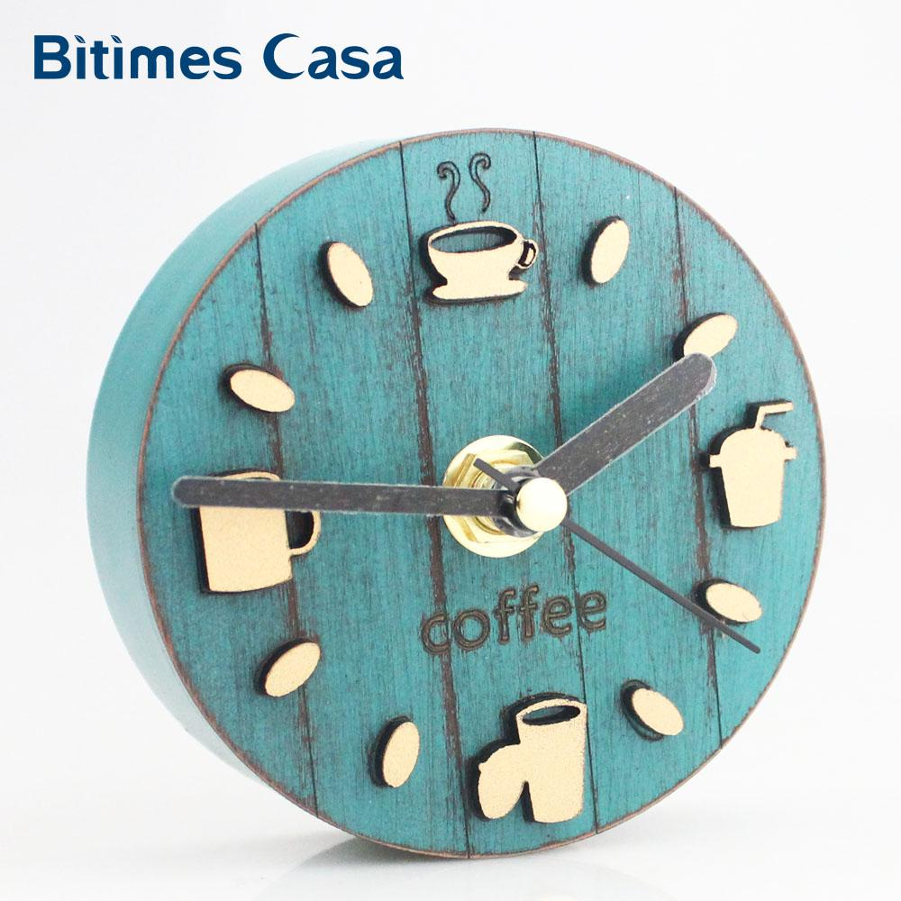 Coffee Cup Pattern Kitchen Refrigerator Fridge Magnet Kitten Clock ...
