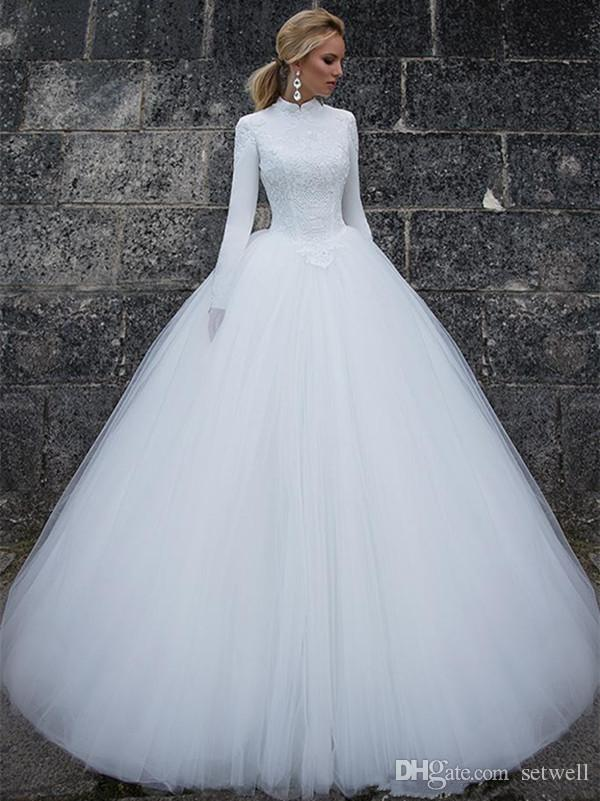 White Tulle Ballgown Dress