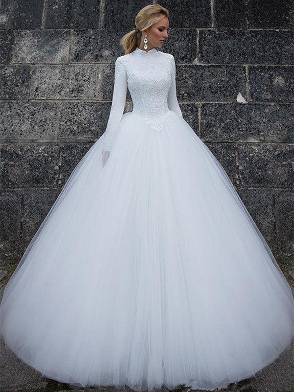 Vestidos de gala en blanco