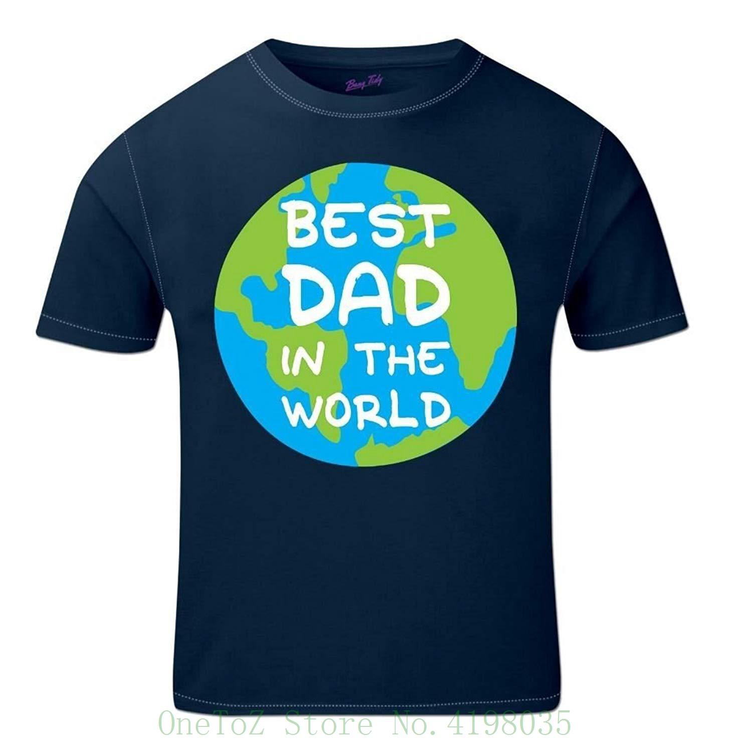 91878ce8 Fathers Day Gift Ideas Worlds Best Dad Globe Father&Rsquo ; S Day T Shirt  For Dad Daddy Step Dad Men Short Sleeve Tee White T Shirts Offensive T  Shirts From ...