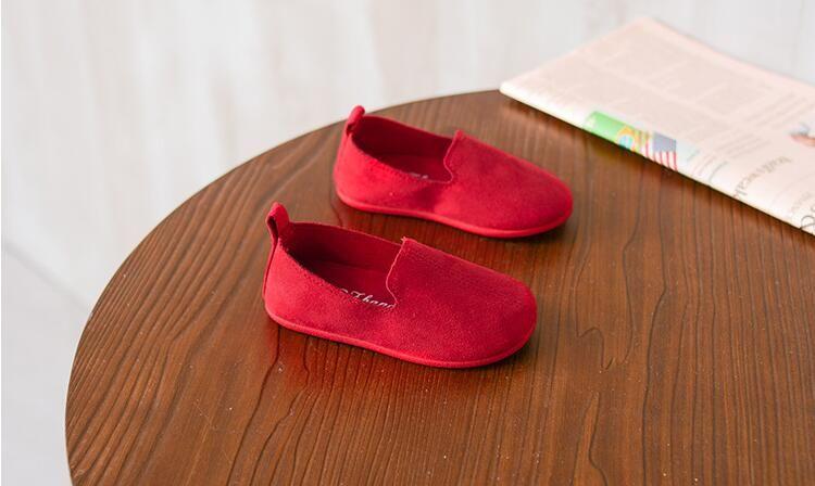 2018 весна осень новых детей мальчики Девушка Повседневная обувь Твердого Мягкие нижние Танцевальные Девушки обувь # 27