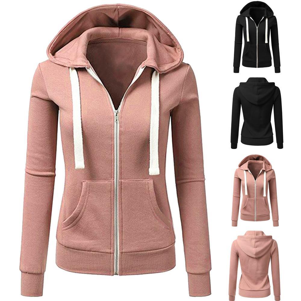 Abrigo Chaqueta Casual Grande De Mujer Talla Compre Capucha Con XWp1Tp