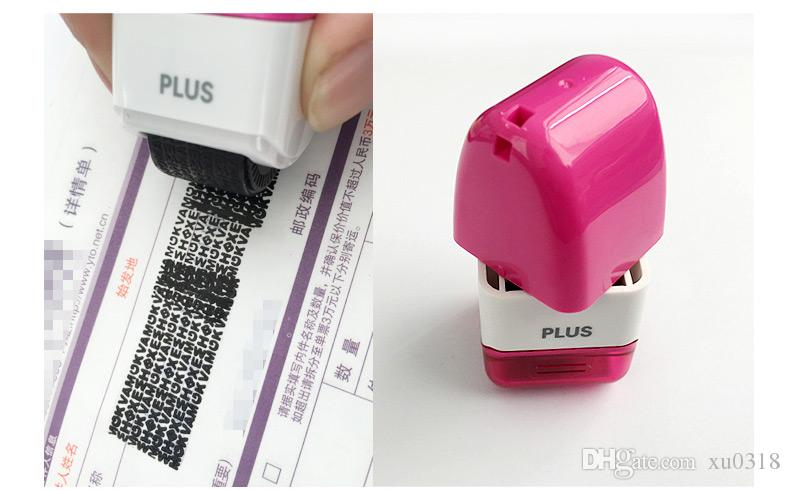 1Plus Guard Your ID Mini Roller Stamp Self Inking Messy Code Security New Seal Cover Word Bar Chaotic Chapter