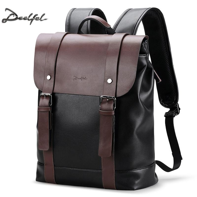 38bd61c898d1 Deelfel Soft Leather Backpack Men Business Rucksack Fashion Bag Student  Schoolbags Men Travel Bags For Teenagers Backpacks Rucksack Jansport  Backpacks From ...