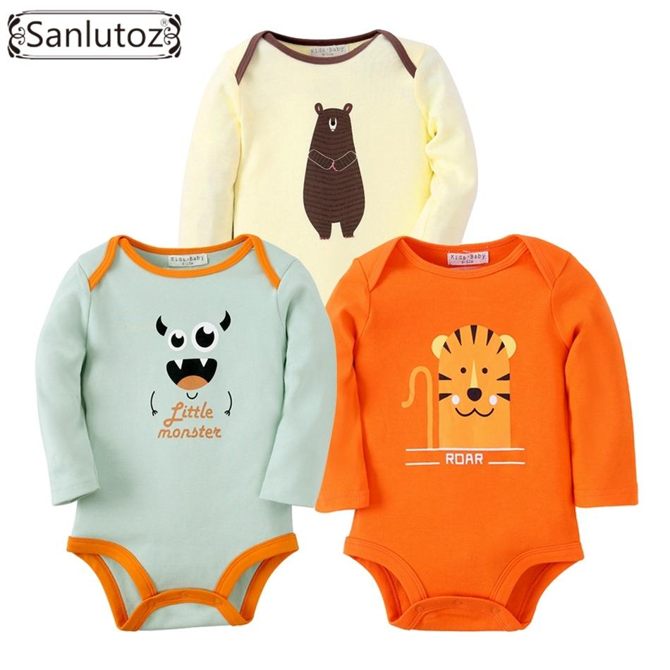 11cfd706fbab4 2019 Sanlutoz Baby Bodysuits Boys Girls Baby Clothing Set Infant Jumpsuits  Newborn Baby Clothes Cotton Cartoon Overall Wear Y18102008 From Gou08