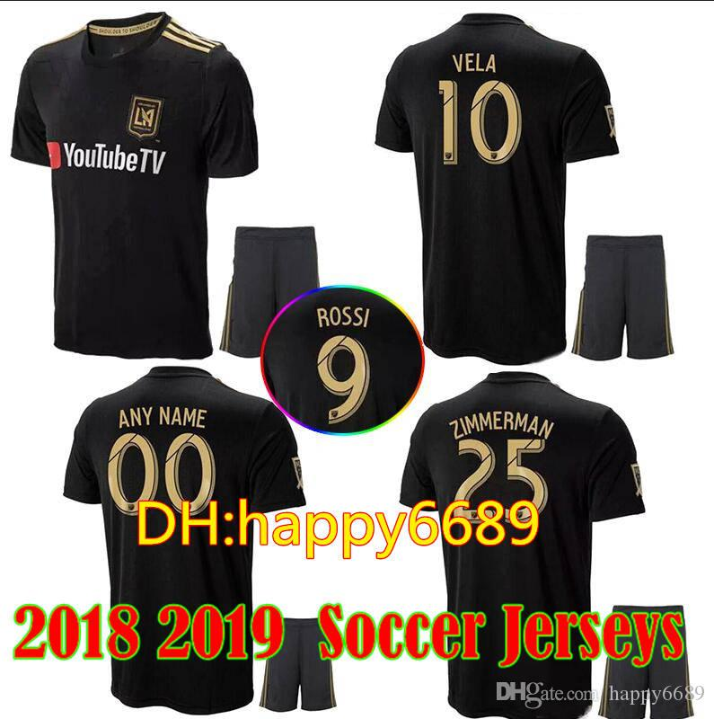 2019 Adult Kits 2018 2019 LAFC Soccer Jersey Wear 18 19 Men HOME Black Away  White Carlos VELA GABER ROSSI Football Jerseys Shirt Los Angeles From  Happy6689 51ed41024
