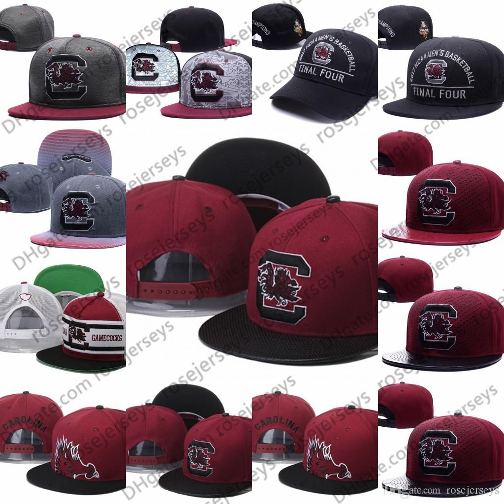 11a592c083f 2019 NCAA South Carolina Gamecocks Caps 2018 New College Adjustable Hats  All University Snapback Gray Black Red White From Rosejerseys