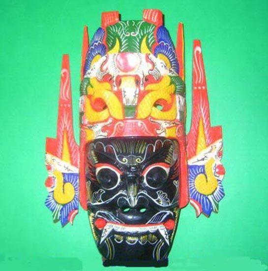 2019 Chinese Drama Home Wall Décor Opera Mask 100 Wood Craft Folk