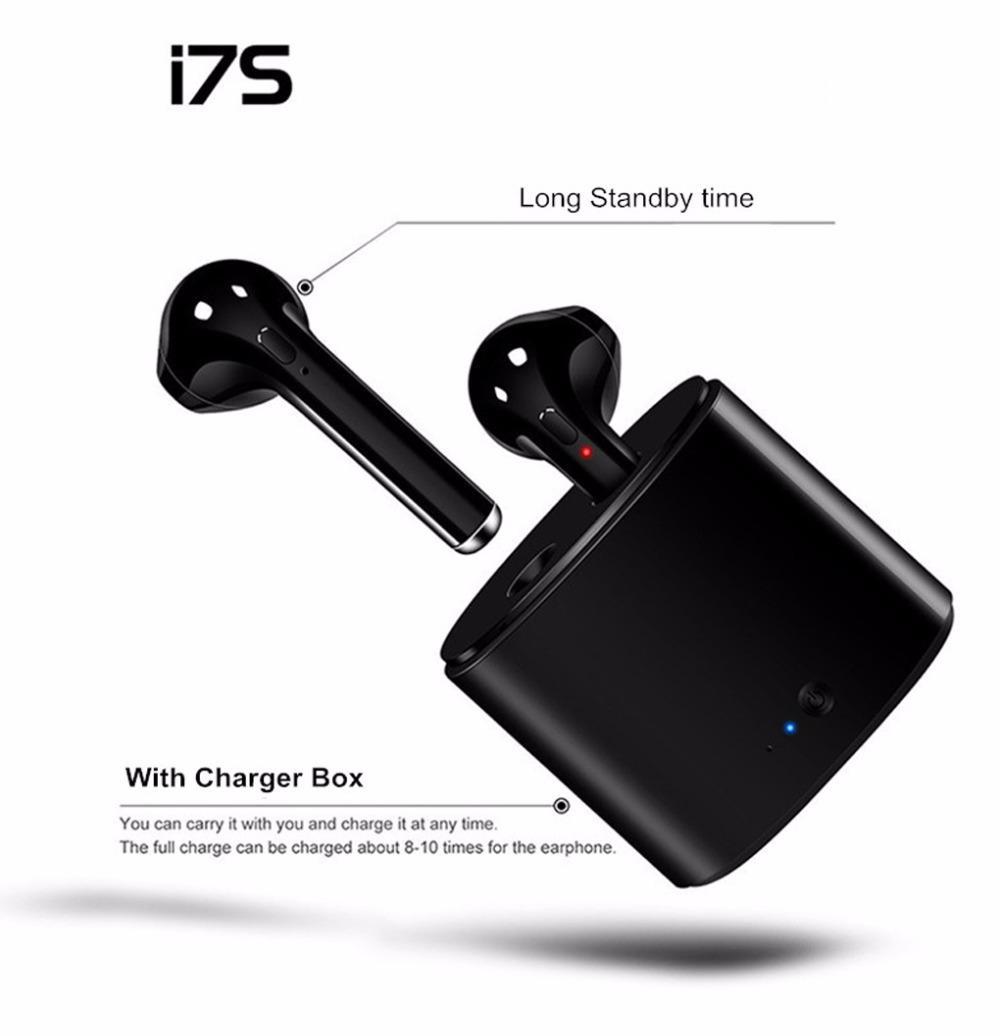 9abf2d2e4f3 Bluetooth Earphones 2018 NEW I7S TWS Wireless Bluetooth Headset Earbuds  Twins In Ear Earphone W/ Charger Box Best Wireless Earbuds Bluetooth  Earpiece From ...