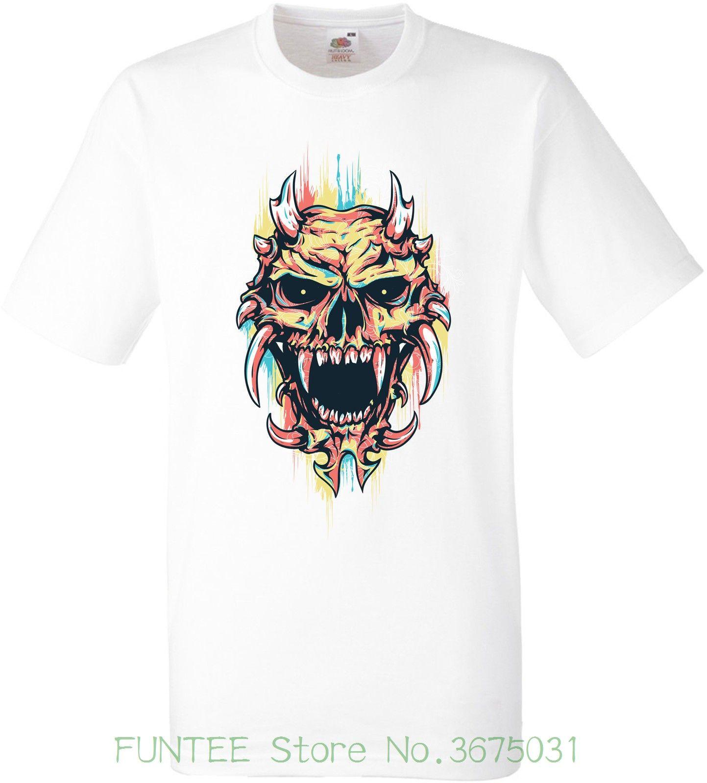 Women s Tee Skull Devil T.shirt 2018 Summer Style Women Short Sleeve ... c3a3746cec