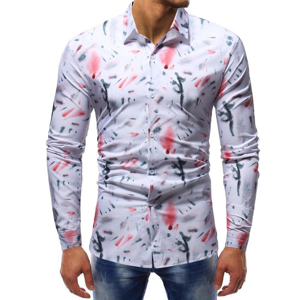 Compre 2018 Hombres De Manga Larga Asual Camisas Hombres Ropa Nuevas  Llegadas Camisetas Modelo Mens Camiseta De Hombre A  25.65 Del Bairi  077adce2321cf