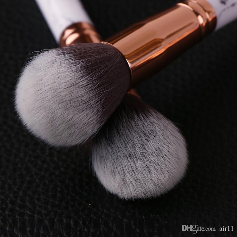 Date Chaude Vente Marbre Maquillage Brosse Professionnel Maquillage Brosses Fondation BB Crème Hiqh Qualité Avec PU Seau livraison gratuite