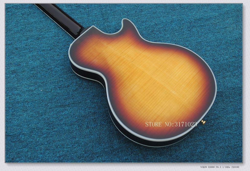 최고의 왼쪽 손으로 맞춤 꿀 불꽃 일렉트릭 기타 마호가니 바디 도매 중국에서