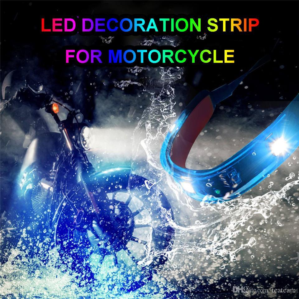 Motocicletta multicolore motocicli a LED Kit da 10 pezzi con interruttore a distanza controller Polaris Slingshot Harley Davidso