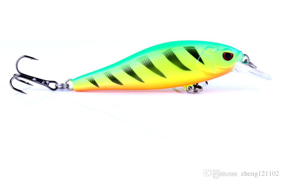 2018 good japan fishing lure minnow quality professional crankbait bait 8.2cm 7.5g swim carp bait /1