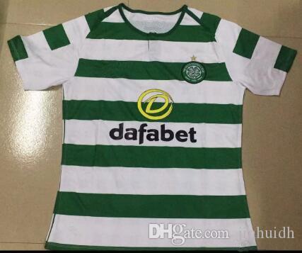 d97c91c19 18 19 Home Away Soccer Jerseys Green White Celtic Griffiths Dembele ...