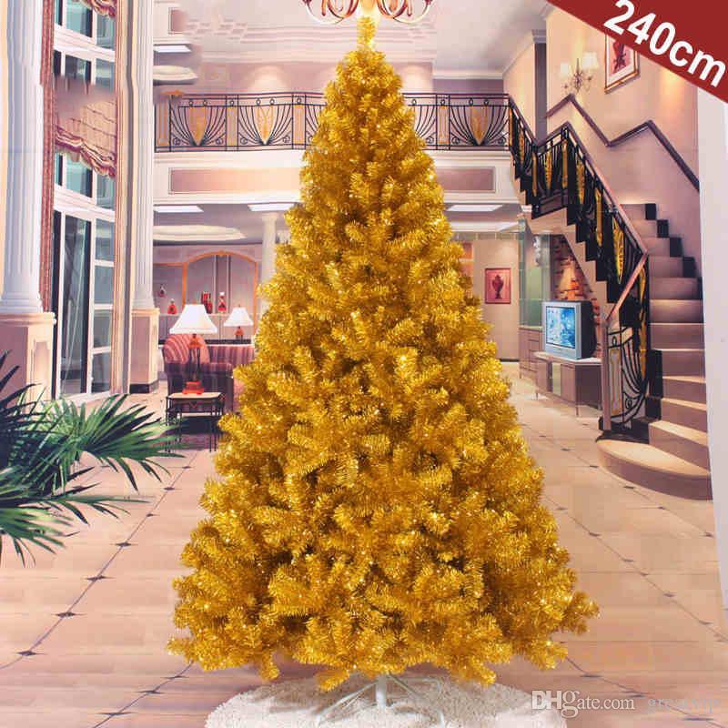 Albero Di Natale 400 Cm.Acquista 60 400 Cm Golden Fortune Alberi Di Natale Forniture Di