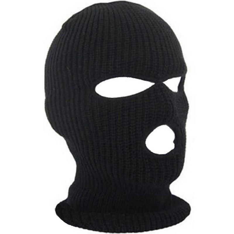 6ec5a55cb3f New Full Face Cover Mask Three 3 Hole Balaclava Knit Hat Winter Stretch  Snow Mask Beanie Hat Cap New Black Warm Face Masks High Quality Mask Mask  China Mask ...