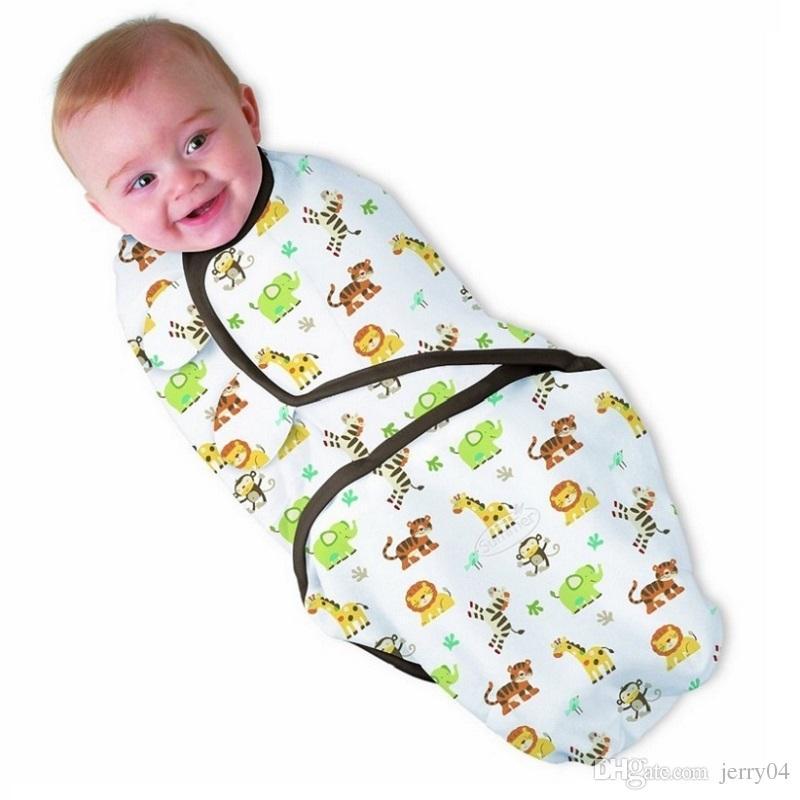 d650dea4b671b 100% Cotton Baby Swaddle Wrap Blanket Newborn Infants Baby Envelop Sleep  Bag Sleepsack Mantas Para Bebe KF040S Sleeping Bags Kids Sleeping Bags From  Jerry04 ...