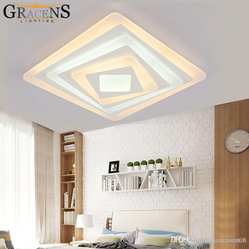 529a59ff3aa Square Acrylic LED Ceiling Light Fixture Living Room Bedroom ...