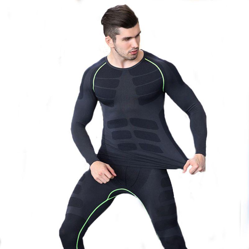 Compre Marca De Inverno Conjuntos De Roupa Interior Térmica Dos Homens  Secagem Rápida Anti Microbiana Trecho Thermo Underwear Masculino Quente  Long Johns ... 802d85a29b221