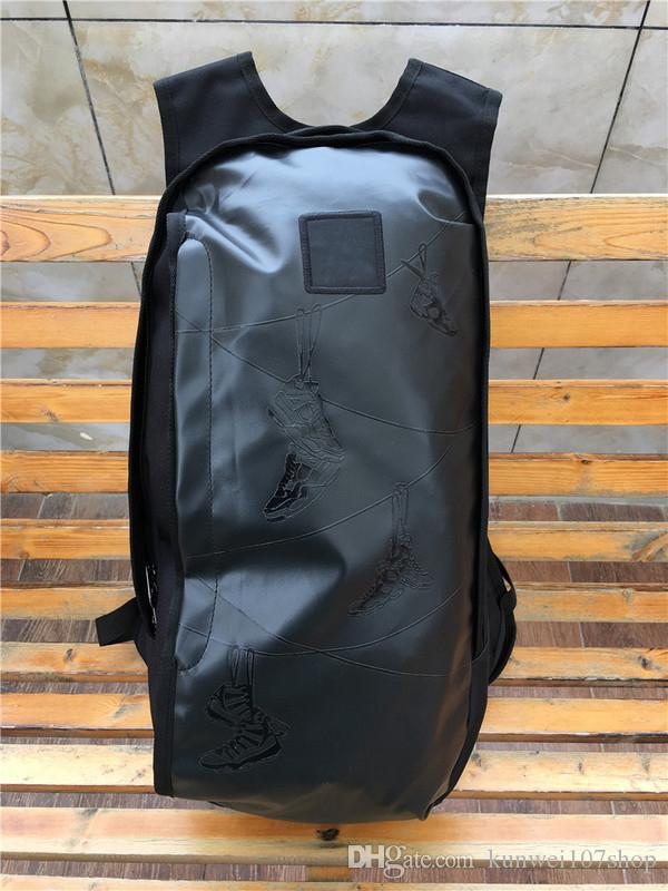 71d108e1e8 Brand Designer Men Women Sport Style James PU Leather School Bag Party  Shoulder Bags Shoes LOGO Print Zipper Hip Hop Bag Travel Bags Dakine Backpacks  Back ...