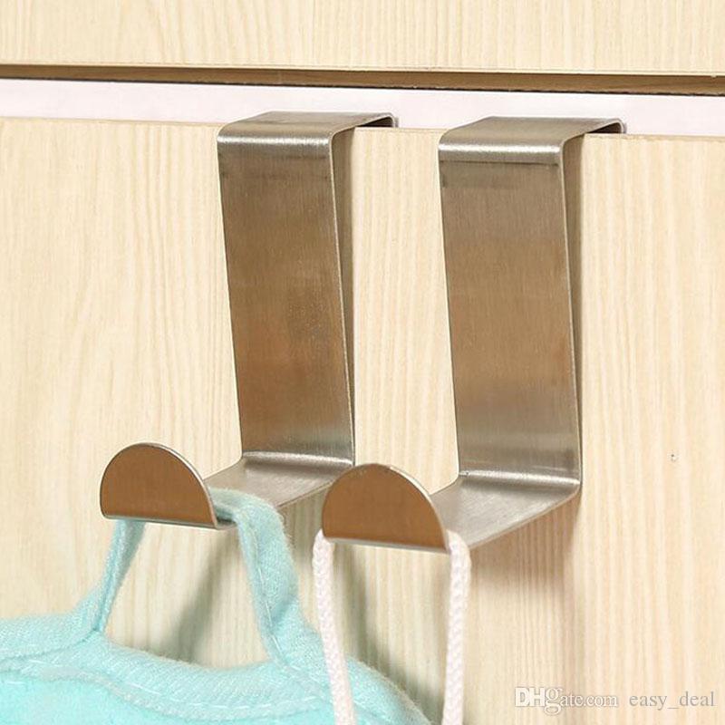 / مجموعة الفولاذ المقاوم للصدأ الباب الخلفي هوك مطبخ متفرقات نوم الملابس معطف عملي شنقا شماعات ZA5903