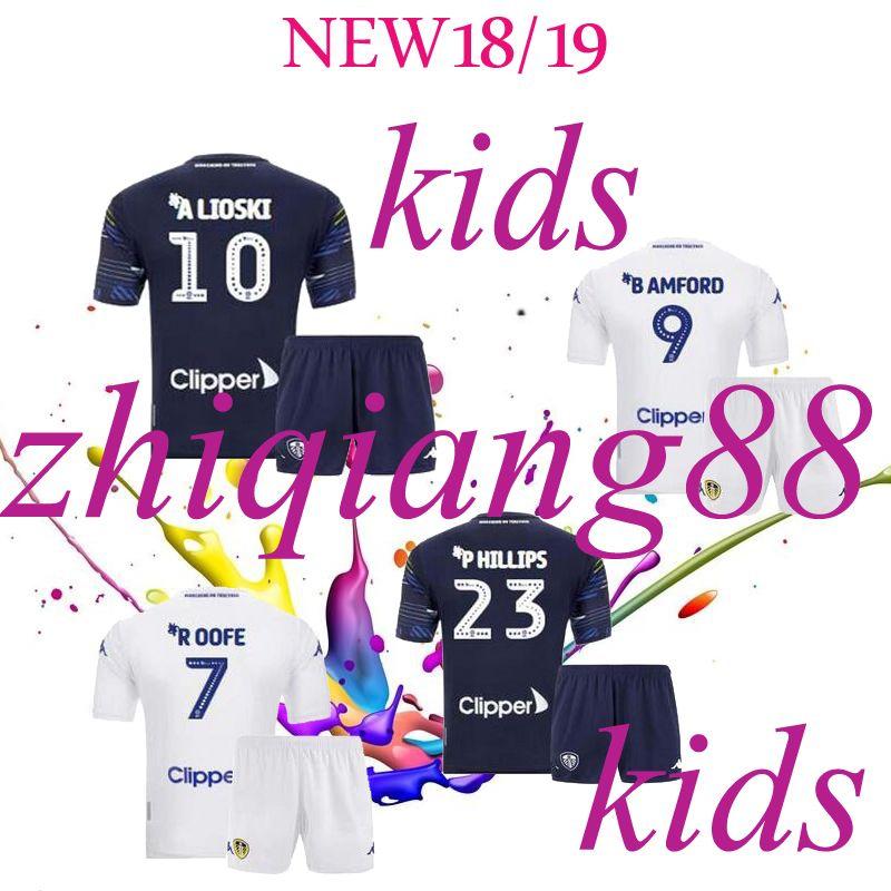ddef585b9 18 19 Leeds United Kids Kits Jerseys 2018 2019 Leeds Home Away Child ...