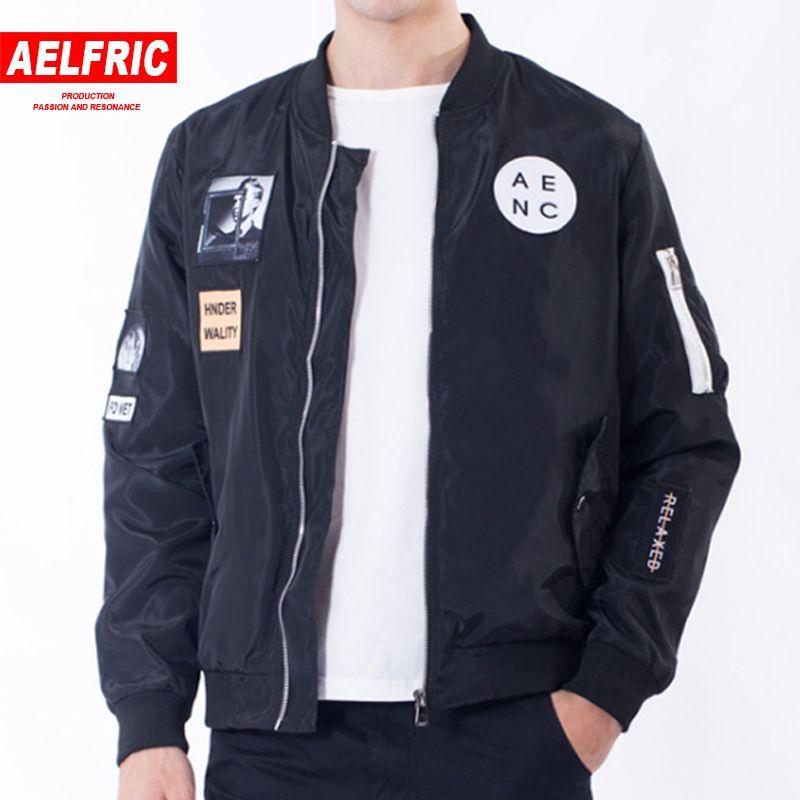 e3f123a99d9 2018 New Men Bomber Jacket Hip Hop Patch Designs Slim Fit Pilot Fashion Coat  Men Jackets Plus Size 4XL Streetwear Outwear HT02 Wool Jacket Long Jacket  From ...