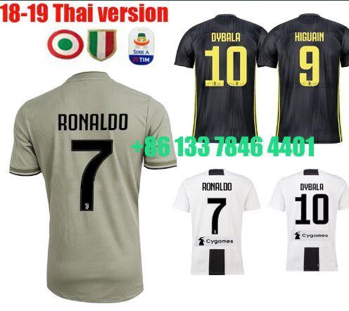e234bfe3c Ronaldo 2019 Maglie Juventus Maillot De Foot Champion League Italia Serie A  Patches Juventos Paulo DYBALA Football XXL Soccer Jerseys Juventus Jersey  ...
