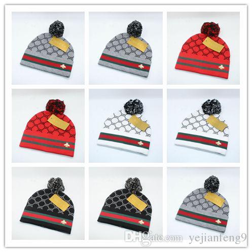 Compre Alta Calidad Nueva Marca De Lujo Marca Invierno Sombrero Para  Hombres Gorros Mujeres Moda Cálida Gorra Unisex Elasticidad Knit Beanie  Sombreros A ... 11cd3ac526c