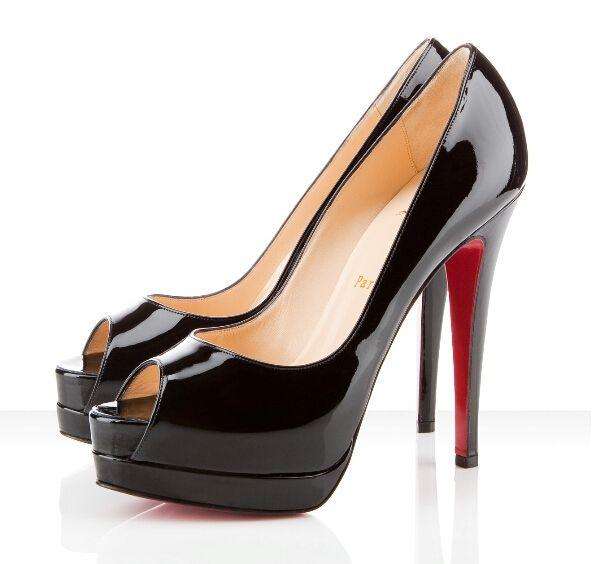 0ff33d46c87 {Original Box}14cm Brand women Red Bottoms High Heels Sexy Peep-toe  Platform Red Sole Shoes Women Pumps High-heeled Party Shoes size 35-42