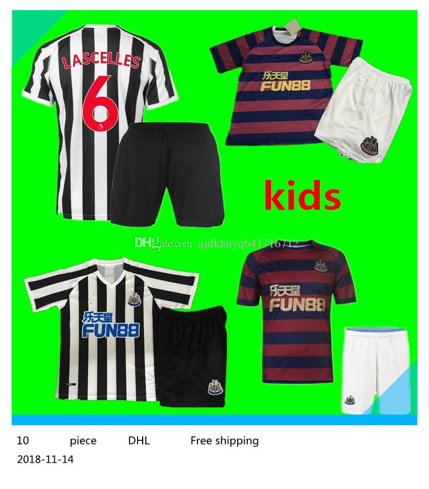 2019 2018 2019 Best Quality Newcastle United Kids Kit Home Away Soccer  Jersey GAYLE AYOZE 18 19 Newcastle United Children Third Football Shirts  From ... 50d988f71c6db
