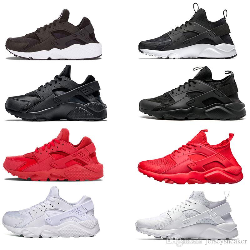 7fcb272be3c4 Cheap Huarache 1 4 IV Classical All White And Black Huaraches Shoes Men  Women Sneakers Running Shoes Size 36 45 Online Sale Running Shoes Mens  Womens Trail ...