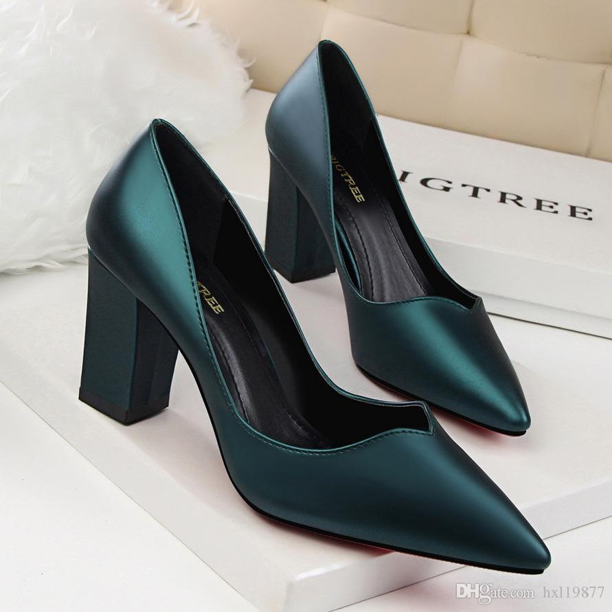 New BIGTREE Spring Autum Shoes Woman High Heels Metal Heels Elegant ... 9df137f3e008