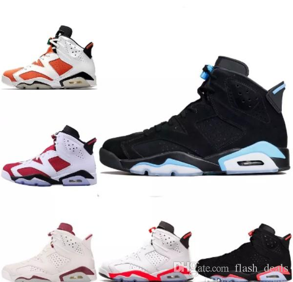 2fce313ccb9f75 2018 Designer Mens 6 Basketball Shoes Trainers UNC Blue Black Cat White  Infrared Red 23 Carmine Maroon Women 6s Sports Sneakers Zapatos Barkley Shoes  Shoes ...