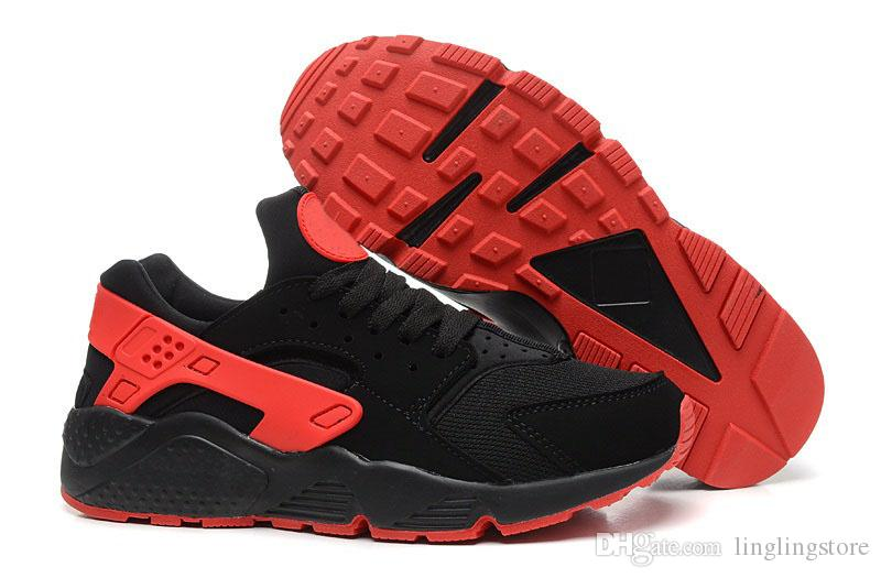 b6d36c3f4d313 Satın Al Ucuz Nike Huarache I Koşu Ayakkabıları Erkek Kadın Klasik Gri Üçlü  Siyah Beyaz Huraches Eğitmenler Spor Ayakkabı Koşucu Atletizm Sneaker Eur  36 45