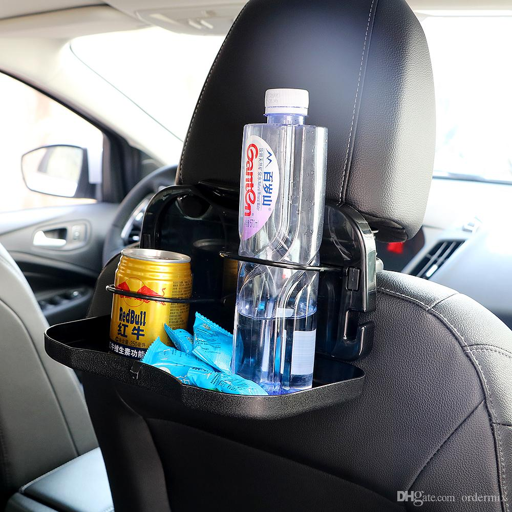 Auto Drink Food Cup Tray Car Back Seat Table Hot Selling Accessories Folding Holder Stand Desk Insert