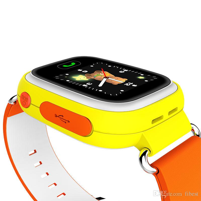 Q90 Smart Watch with GPS Wifi 1.22inch Touch Screen SOS Smartwatch for Kid Anti Lost Monitor iPhone IOS Android Smart Phone