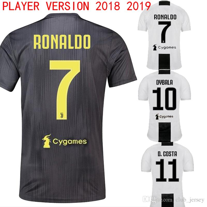 92a05debf50 2019 2018 DYBALA Juventus Soccer Jersey 18 19 Player Version Romaldo Home  Away MANDZUKIC MARCHISIO D.COSTA CHIELLINI Football Shirt From Club jersey