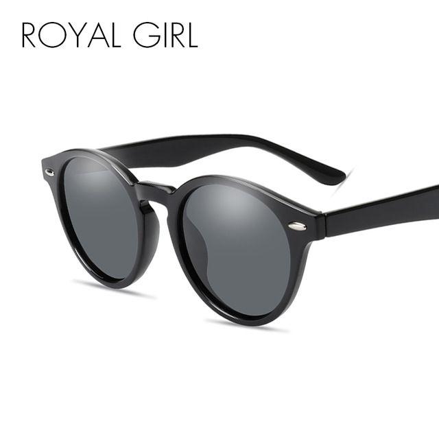 faa90575fb7 ROYAL GIRL Retro Round Sunglasses Men Women 2018 Brand Designer Men  Polarized High Quality Sun Glasses Mirror Oculos Ss938 Wholesale Sunglasses  Cool ...
