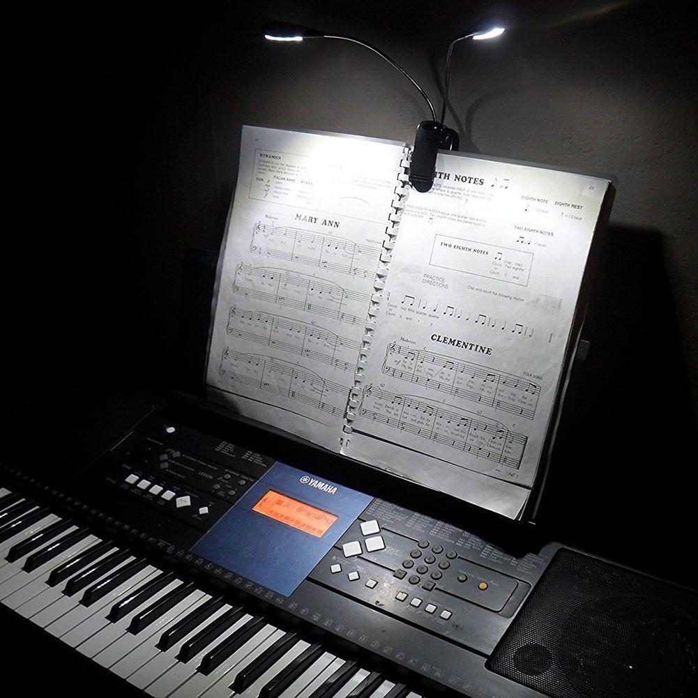 Coquimbo 2 Heads 10 LEDs Lampada da tavolo a luce flessibile Lampada da tavolo a LED Lampada da tavolo Lampada da tavolo Lampada da lettura del libro Batteria funzionante