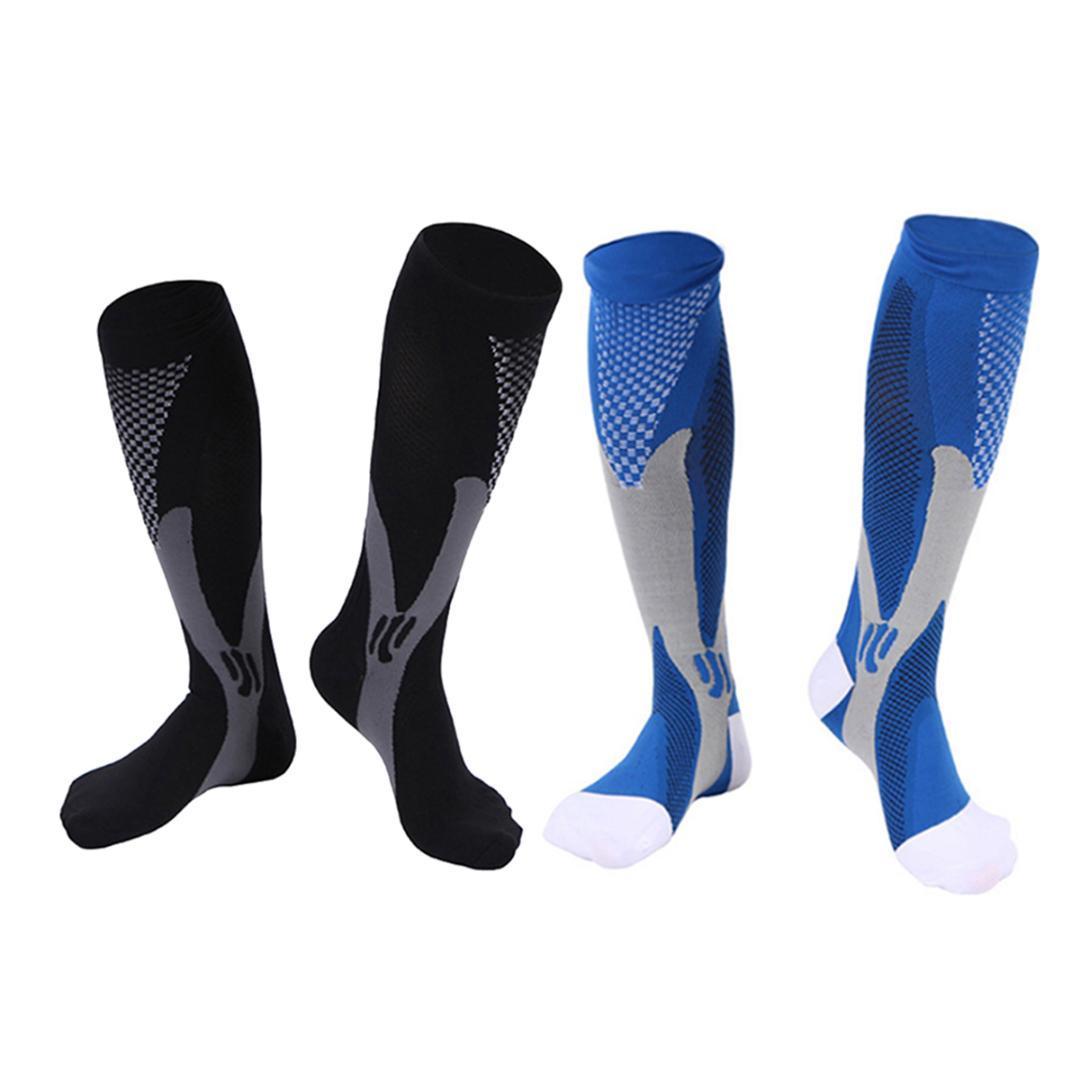 e9a097dcbc1 Women Men Compression Socks Knee High Stocking High Elastic Sports ...