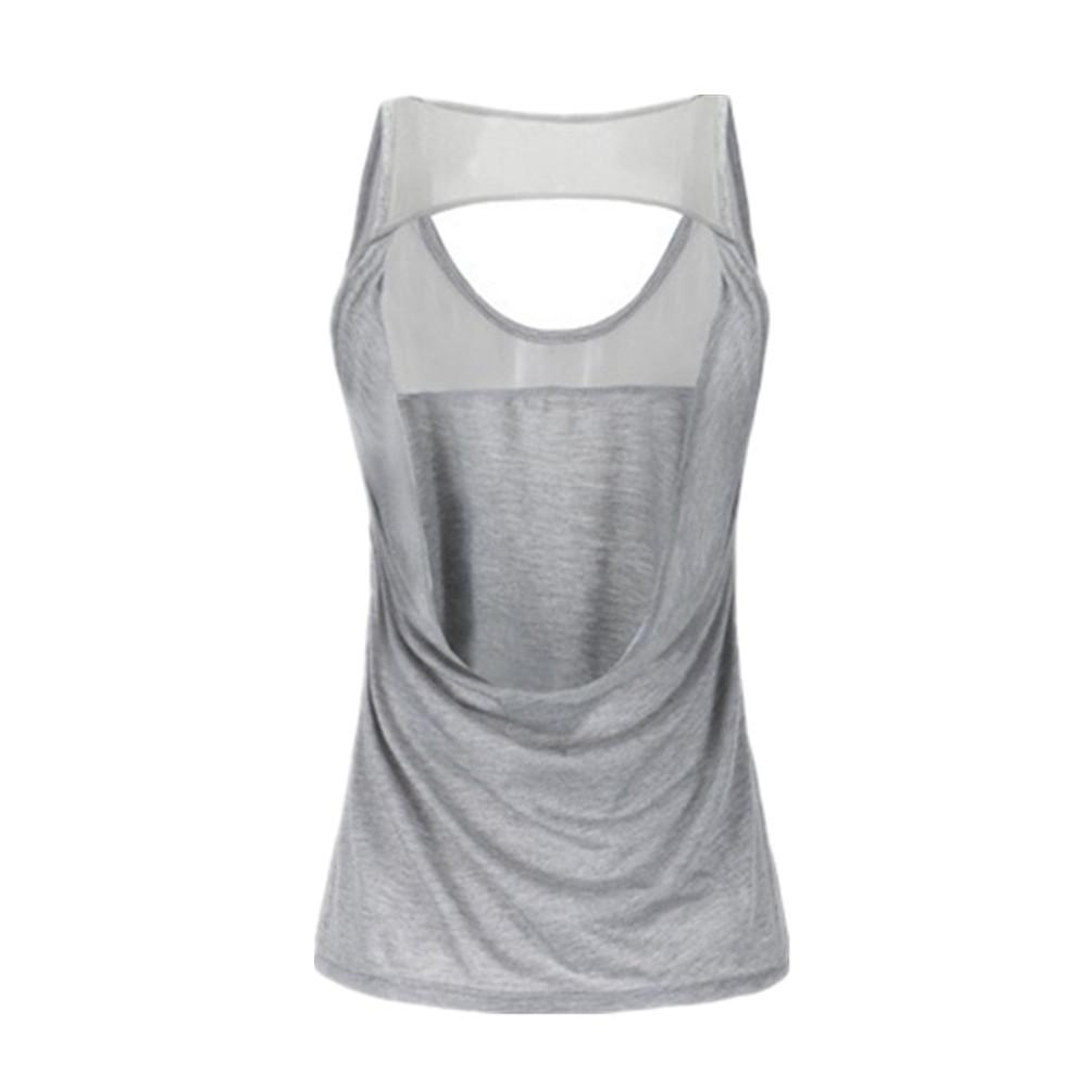 online store be11d b1478 2019 KARYZON Sport Yoga Shirt Women Running Gym Tank Tops Fitness Women  Breathable Sleeveless Singlet Vest Camisole Hollow Sportswear From  Sunnystars, ...